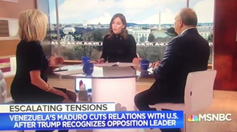 Contact MSNBC to urge the network to balance its pro-coup coverage of Venezuela