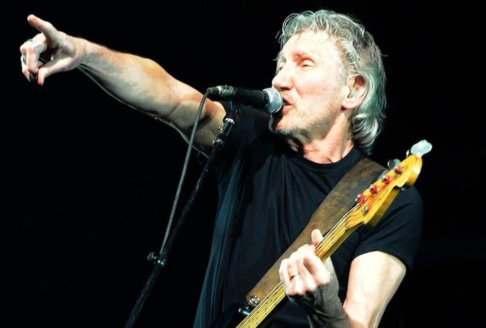 Pink Floyd's Roger Waters performs at rally in aid of Julian Assange