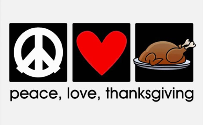 Our Thanksgiving Message Of Peace